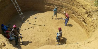 Moipo Sec School pit excavation